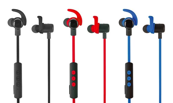 jarv nmotion excel water sweat resistant in ear bluetooth headphones groupon. Black Bedroom Furniture Sets. Home Design Ideas