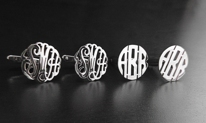 Namejewelryspot.com: $34 for a Set of Custom Sterling-Silver Monogram Cufflinks from NameJewelrySpot ($143.99 Value)