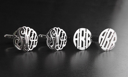 $34 for a Set of Custom Sterling-Silver Monogram Cufflinks from NameJewelrySpot ($143.99 Value)