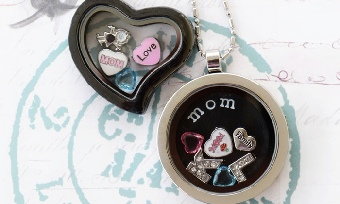 Stamp the Moment: Locket Necklace or Bracelet with Options for Two or Four Charms from Stamp the Moment (Up to 62% Off)