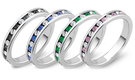 4.00 CTTW Cubic Zirconia Eternity Band in 18K White Gold