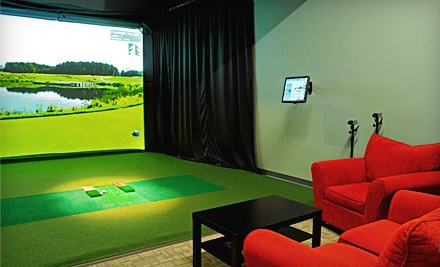 Three Hours of Play in a Golf Simulator for up to Four People  - LakeShore Links Indoor Golf in Toronto