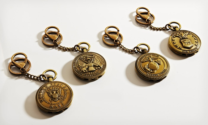 Military Key Chains: $7.99 for a Military Key Chain in Brasstone ($49.99 List Price). 4 Insignias Available. Free Returns.