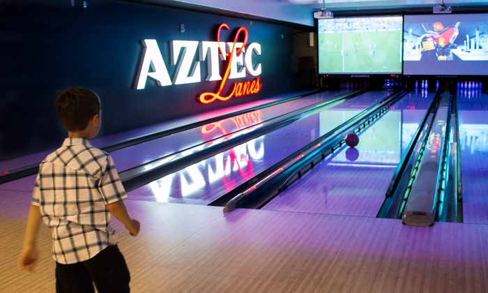 Aztec Lanes - Aztec Lanes: $19 for Two Hours of Bowling for Four People at Aztec Lanes ($38 Value)