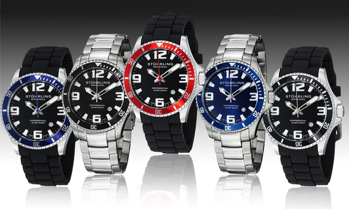 Stührling Original Men's Diver Watch: Stührling Original Men's Professional Diver Watch. Multiple Styles Available. Free Shipping and Returns.