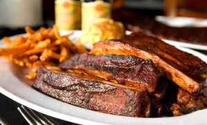 Railroad Crossing BBQ: Up to 38% Off Barbeque — Railroad Crossing BBQ; Valid Wednesday, Thursday 3 PM - 8 PM