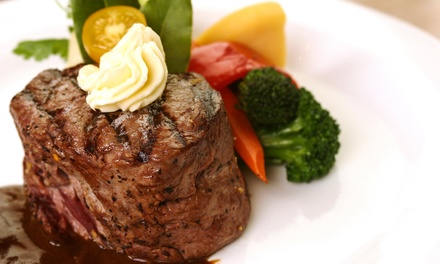 Steak-House Dinner for Two or Four or Lunch at Haab's Restaurant (Up to 50% Off)
