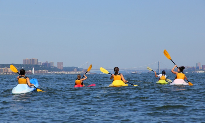 Manhattan Kayak - Pier 84 Boathouse: Kayak and Standup-Paddleboard Packages from Manhattan Kayak (Up to 58% Off).