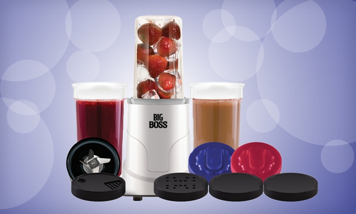 Big Boss 300-Watt 15-Piece Blender System: $29.99 for a Big Boss 15-Piece 300-Watt Countertop Blender System ($49.99 List Price) Free Shipping and Returns.