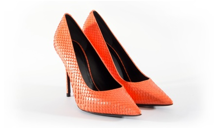 Celine Orange Python Pump