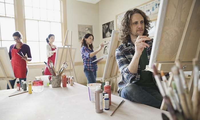 A painters dream up to 50 off sandgate groupon for Groupon painting class