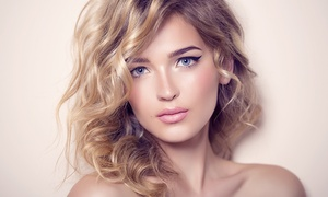 Haircut And Style With Shine Treatment Or Partial Or Full Highlights With Free Mimosas (up To 71%off)
