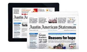 "Austin American-Statesman: 12-Month ""Austin American-Statesman"" Digital Subscription with Optional Sunday Subscription (Up to 87% Off)"