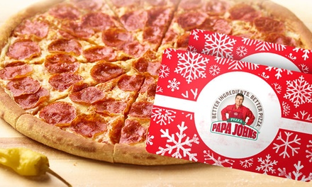 $25 for One $25 eGift Card and One Large One-Topping Pizza at Papa John's ($35 Value)