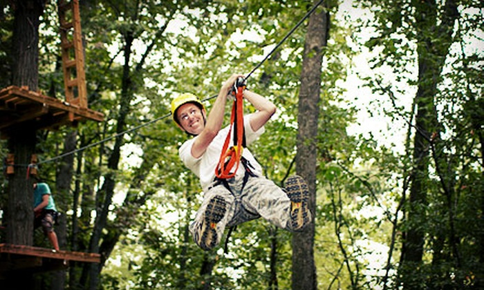 Markin Farms Zipline Adventures - Liberty: Zipline Adventure with Photos Monday–Thursday or Friday–Sunday at Markin Farms Zipline Adventures (Up to 51% Off)