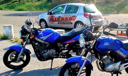 Curso para obtener el carné de moto A, A1, A2 y AM con prácticas desde 19,95  en 2 centros de Airbag