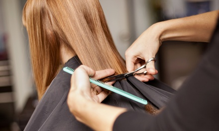 Dry Cut or Wash, Cut and Blow-Dry with Optional Half Head Highlights at Salon 46 (Up to 73% Off)
