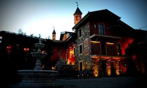 Albergo Ristorante Al Castello Di Monte: Cena romantica in castello con menu di terra o mare con vino e camera in day use per 2 persone (sconto fino a 67%)