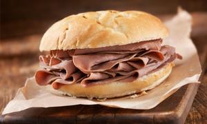 Easy Food: Menú para 2 ,4 o 6 personas con entrante, sándwich de roastbeef, postre y bebida desde 9,90 € en Easy Food