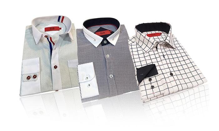 ec17f8815 Elie Balleh Slim-Fit Boys' Shirt | Groupon Goods