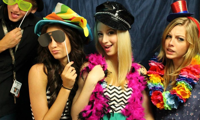 Bubs Photo Booth - League City - Clear Lake: $362 for 3-Hour Photo Booth Rental with Scrapbook and Props from Bubs Photo Booth ($725 Value)
