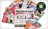 """<i>Sun Sentinel</i>: $10 for a One-Year Sunday Subscription to the """"Sun Sentinel"""" ($208 Value)"""