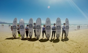 Cape Town Surf School: 90-Minute Private Surfing Lesson from R149 for One at Cape Town Surf School (Up to 71% Off)