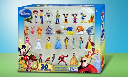 groupon daily deal - Disney 30-Piece Collectible-Figurine Set. Free Returns.