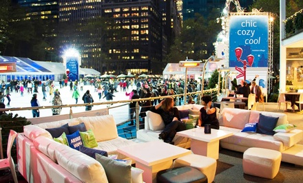 VIP Ice-Skating Package for Two with Optional Three-Course Dinner at Celsius at Bryant Park (Up to 48% Off)
