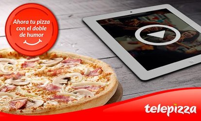 imagen para Telepizza: pizza mediana o familiar de masa fina con hasta 5 ingredientes y el humor de Comedy Central desde 5,95€