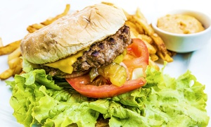 The Blues Bar & Grill: Burger Meal For Two or Four at The Blues Bar & Grill (Up to 52% Off)