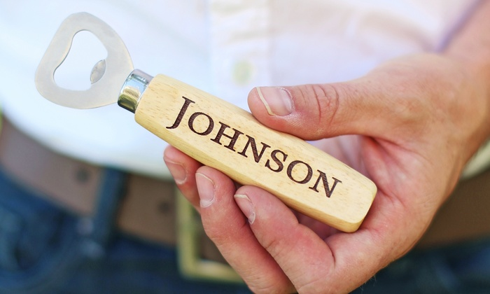 Morgann Hill Designs: $5 for One Personalized Wooden Bottle Opener from Morgann Hill Designs ($19.99 Value)