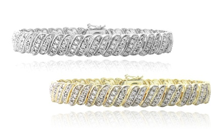 1 CTTW Diamond Tennis Bracelet in Gold or Silver Tone