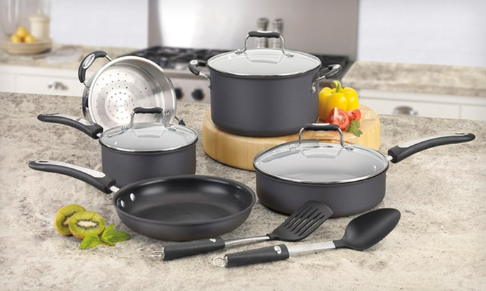 Cuisinart 10-Piece Cookware Set: $89 for a Stainless-Steel or Hard-Anodized Cuisinart Pro Classic 10-Piece Cookware Set ($149 List Price)