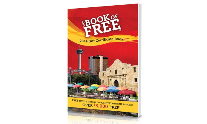 2014 Big Book of Free: Book of Free Gift Certificates (Up to 62% Off). Choose Between Two Options.