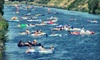 Coyote Cruises: River Tubing: Season: May - Oct, 2018 - Penticton: Inner-Tube Rental and Bus Pickup for Two, Four, or Six at Coyote Cruises in Penticton (Up to 58% Off)