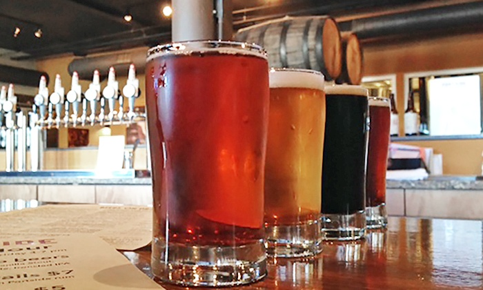 Portside Distillery & Brewery - Downtown: Tasting Experience for Two or Tour and Empty Growler for One at Portside Distillery & Brewery (Up to 39% Off)