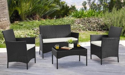 Conjunto de 4 piezas de muebles de jardín