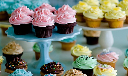 $9 for One Dozen Pre-Assorted Mini Cupcakes at Cupcakes by Heather & Lori ($15Value)