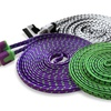 10 Ft. Flat, 3D Luxe Braided USB Cable for iPhone 4/4s