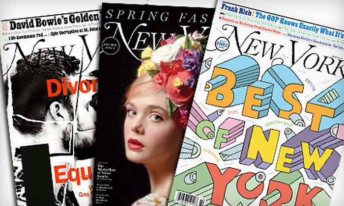 """New York"" Magazine: One- or Two-Year Subscription to ""New York"" Magazine (Up to 53% Off)"