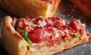 Pizzeria Due : Deep-Dish Pizza Meal for Two or Four with Wine or Beer at Pizzeria Due