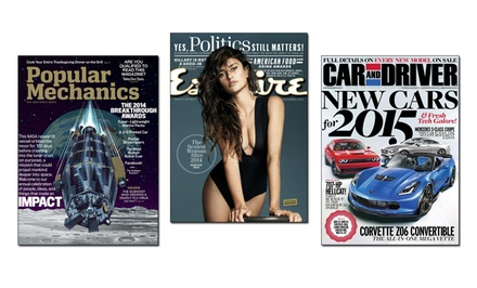 1-Year Subscription to a Hearst Men's Magazine; Choose from Car and Driver, Esquire, Popular Mechanics, or Road & Track