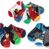 10-Pack of Kids Superhero Ankle Socks