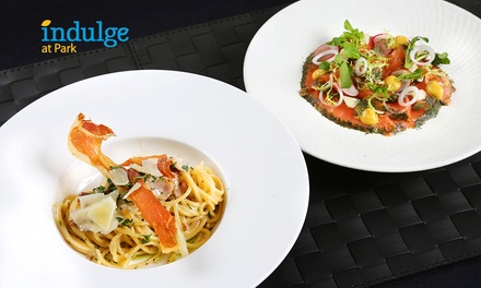 $21 for a 2-Course Western Meal at Indulge at Park (worth $29.43) in Grand Park City Hall Hotel. More Options Available