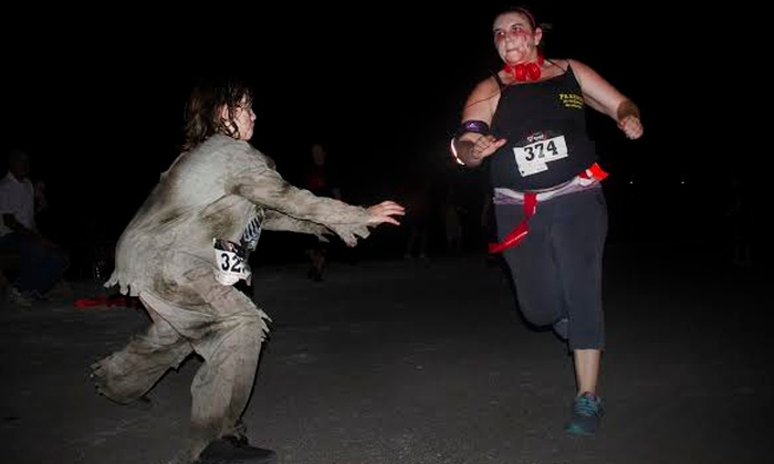 The 5k Zombie Run - Nathan Benderson Park: Runner or Zombie Admission to The 5k Zombie Run – Sarasota, Presented by MOR on Saturday, October 24 (42% Off)