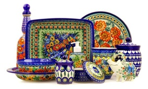 Polmedia Polish Pottery: Polish Pottery and Home Furnishings at Polmedia Polish Pottery (50% Off). Two Options Available.