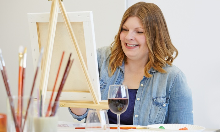 Bottles & Brushes Ohio - Multiple Locations: Paint Class Admission and a $5 Drink Voucher for One, Two, or Three at Bottles & Brushes Ohio (Up to 46% Off)