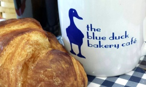 Blue Duck Bakery Cafe: $14 for Three Vouchers Each Good for $8 Worth of Food and Drink at Blue Duck Bakery Cafe ($24 Value)