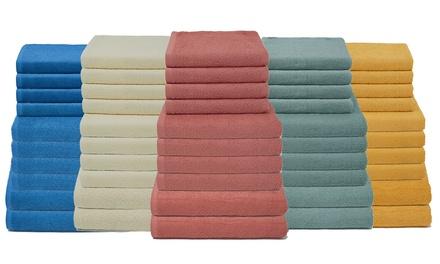 Set di asciugamani in spugna